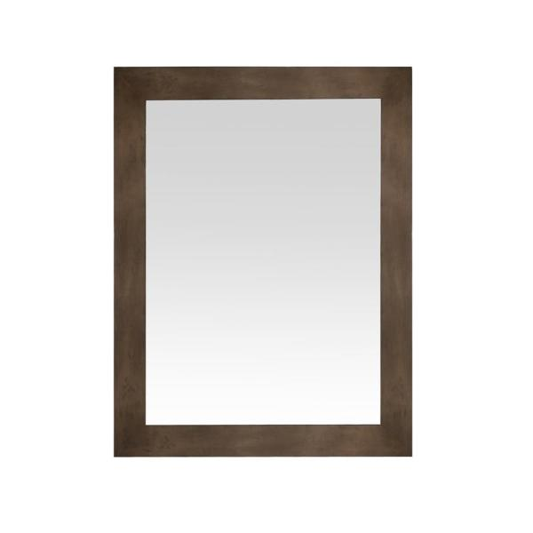 Sonoma 36 in. x 28 in. Framed Wall Mount Mirror in Almond Latte
