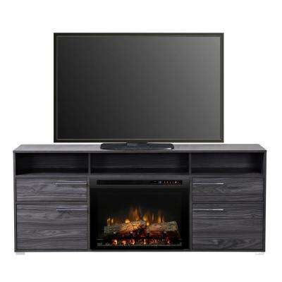 Sander 66-3/8 in. Freestanding Electric Media Console in Carbon