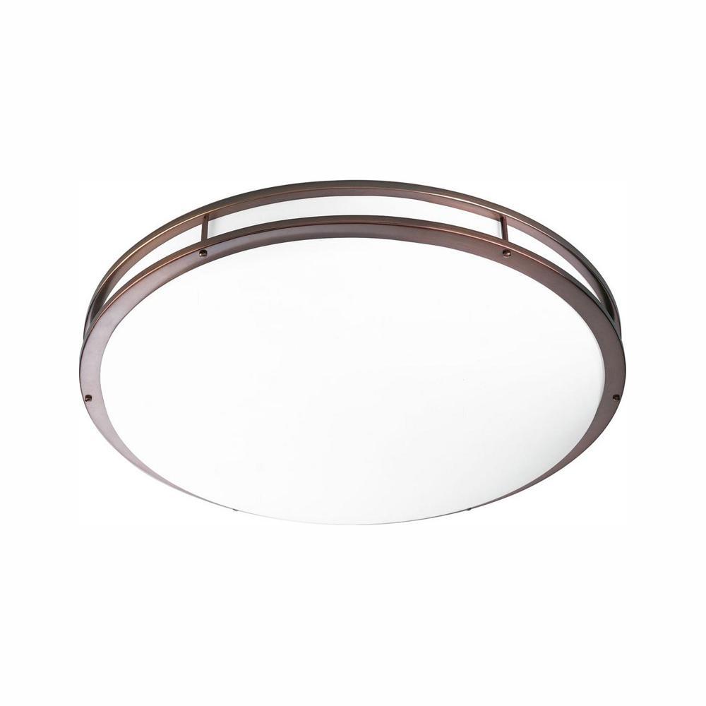 Progress Lighting 31.25 in. CTC COMM Collection 52 -Watt Urban Bronze Integrated LED Flush Mount