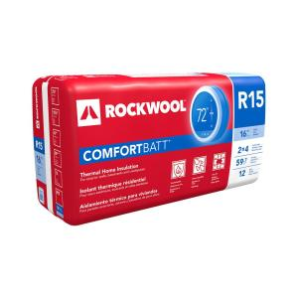 Roxul comfortbatt 3 1 2 in x 15 1 4 in x 47 in r 15 for Roxul insulation reviews