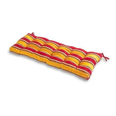 Carnival Stripe Rectangle Outdoor Bench Cushion