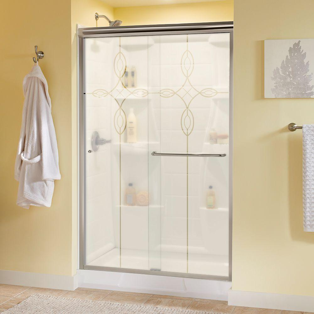 Delta Simplicity 48 In. X 70 In. Semi-Frameless Sliding