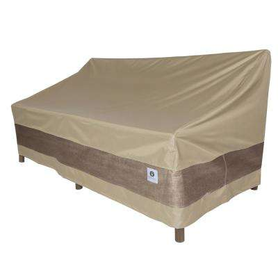 Swell Elegant 104 In Tan Patio Sofa Cover Theyellowbook Wood Chair Design Ideas Theyellowbookinfo
