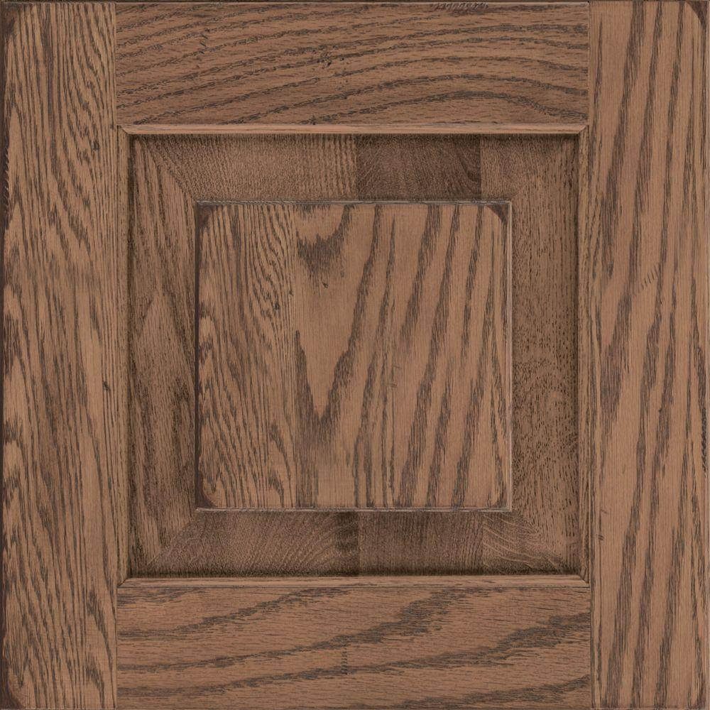 Kraftmaid 15x15 In Cabinet Door Sample In Dillon Oak In Distressed