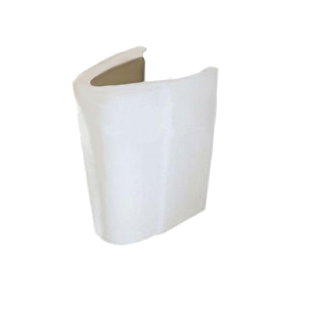 American Standard Ravenna Semi Pedestal Combo Bathroom Sink Leg In White