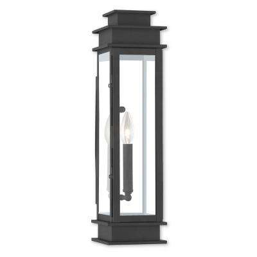 Princeton 1-Light Black Outdoor Wall Mount Lantern