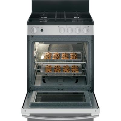 24 in. 2.9 cu. ft. Gas Range with Steam-Cleaning Oven in Stainless Steel