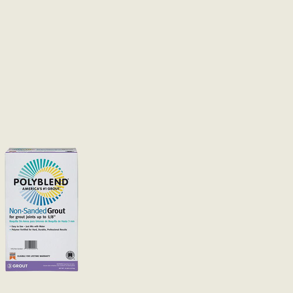 Custom Building Products Polyblend #381 Bright White 10 lb. Non-Sanded Grout