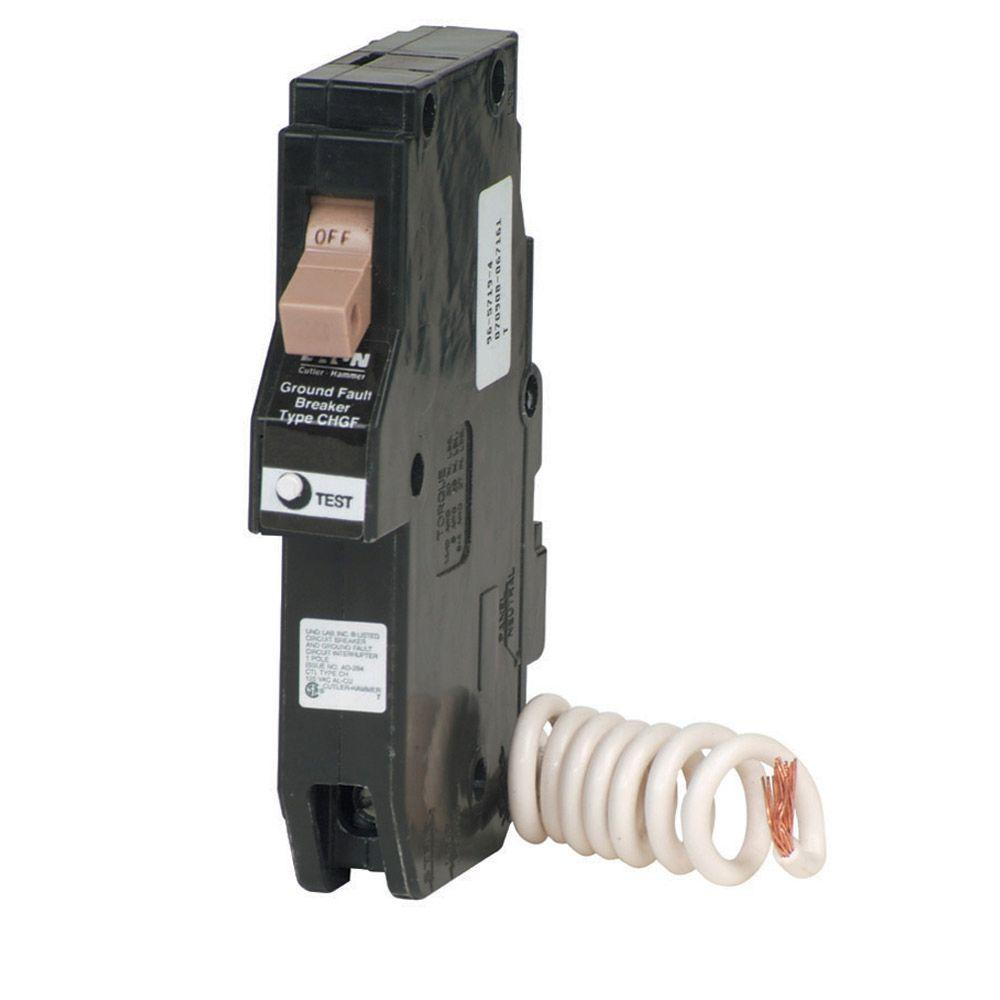 15-Amp 3/4 in. Single Pole Type CH Ground Fault Circuit Breaker