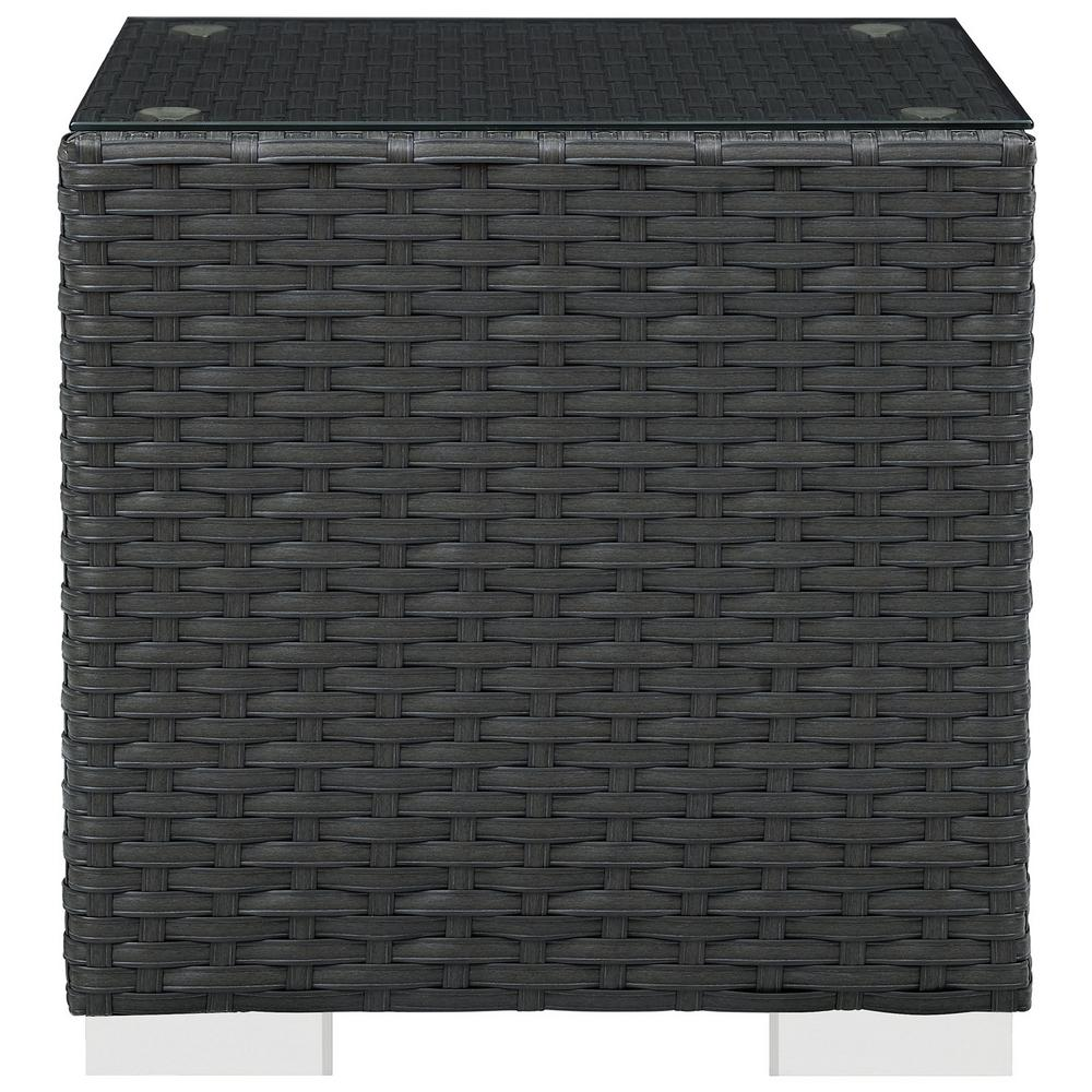 Sojourn Patio in Chocolate Wicker Outdoor Side Table