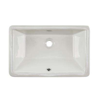 18-1/2 in. x  11 in. Glazed Porcelain Bathroom Sink in Biscuit