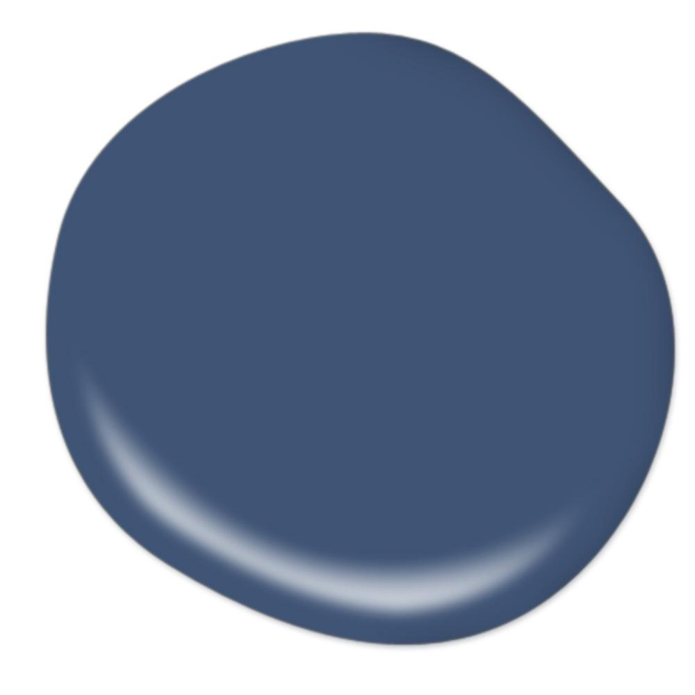 Behr Daring Indigo paint color for a chic deep blue option for your space.