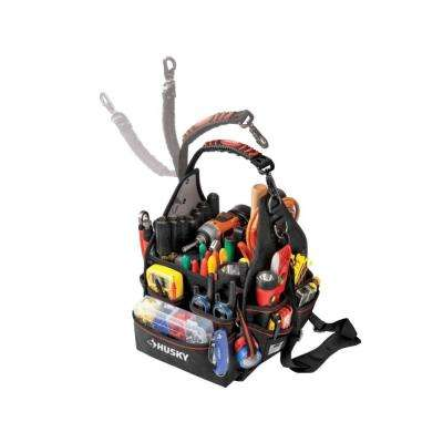 10 in. Electrician Tool Bag with Driver Wall