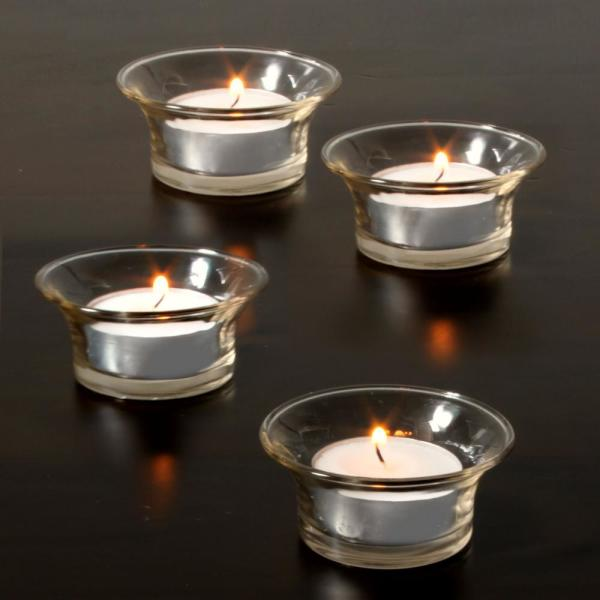 White Citronella Scented Clear Cup Tea Light Candles (50-Pack)