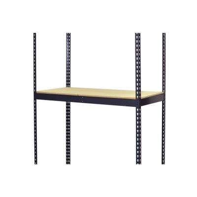3-1/4 in. H x 48 in. W x 24 in. D Extra Shelf for Bulk Storage Boltless Shelving with Double Rivet and Particle Board