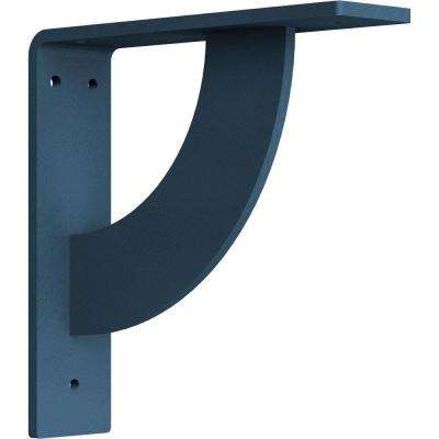 2 in. x 8 in. x 8 in. Steel Hammered Light Blue Bulwark Bracket