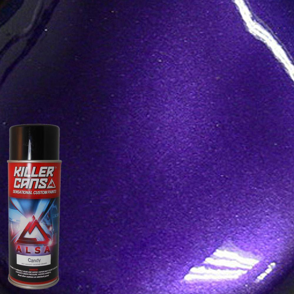 Alsa Refinish 12 Oz Candy Purple Killer Cans Spray Paint