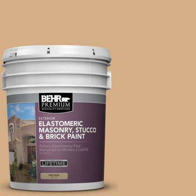 5 gal. #BXC-67 Santa Fe Tan Elastomeric Masonry, Stucco and Brick Exterior Paint