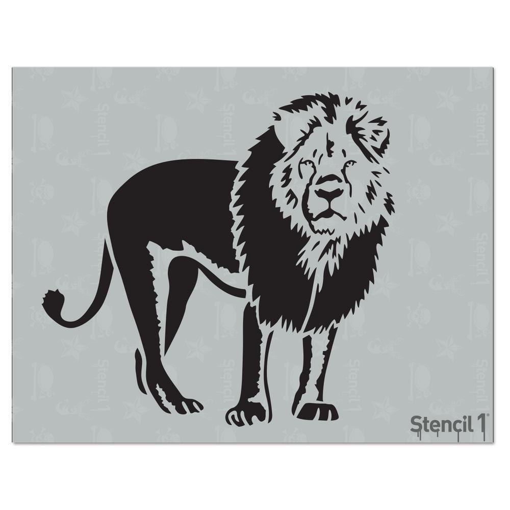 Stencil1 Lion Stencil S101304 The Home Depot