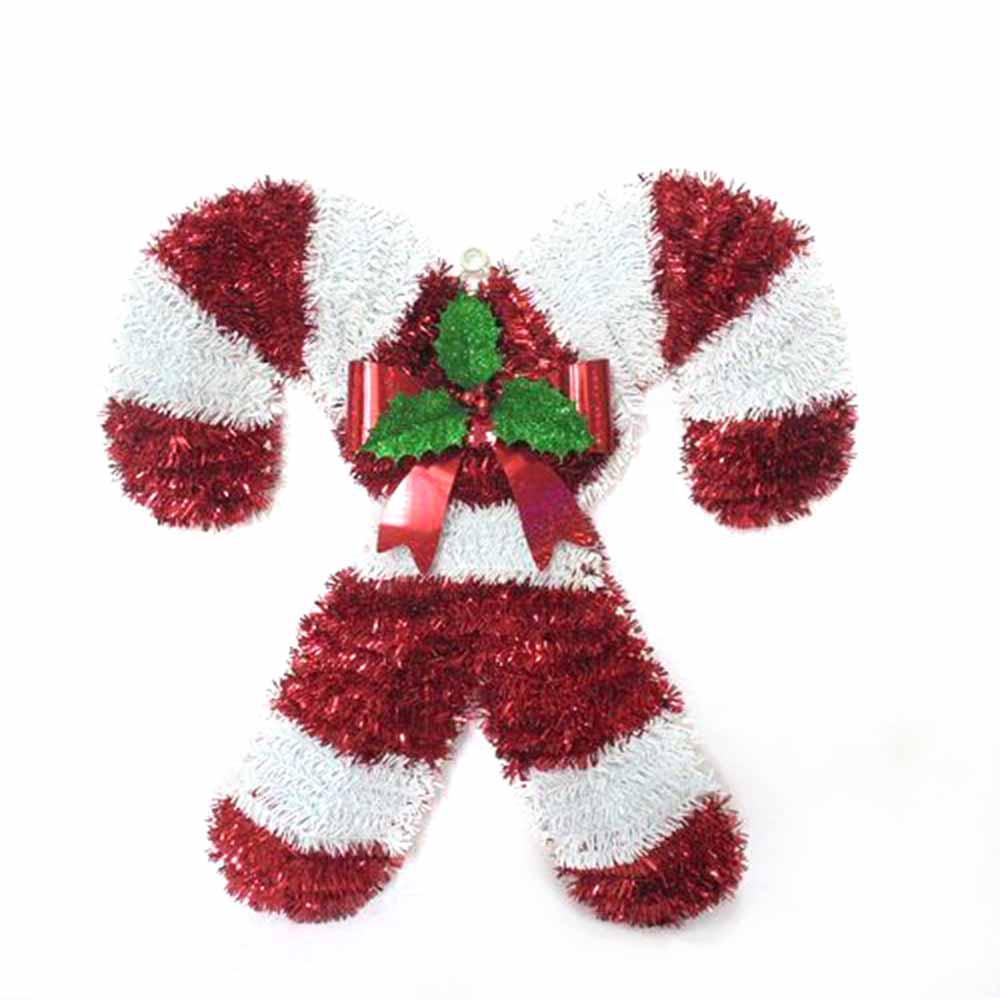 18 in. Double Candy Cane Wall Hanging