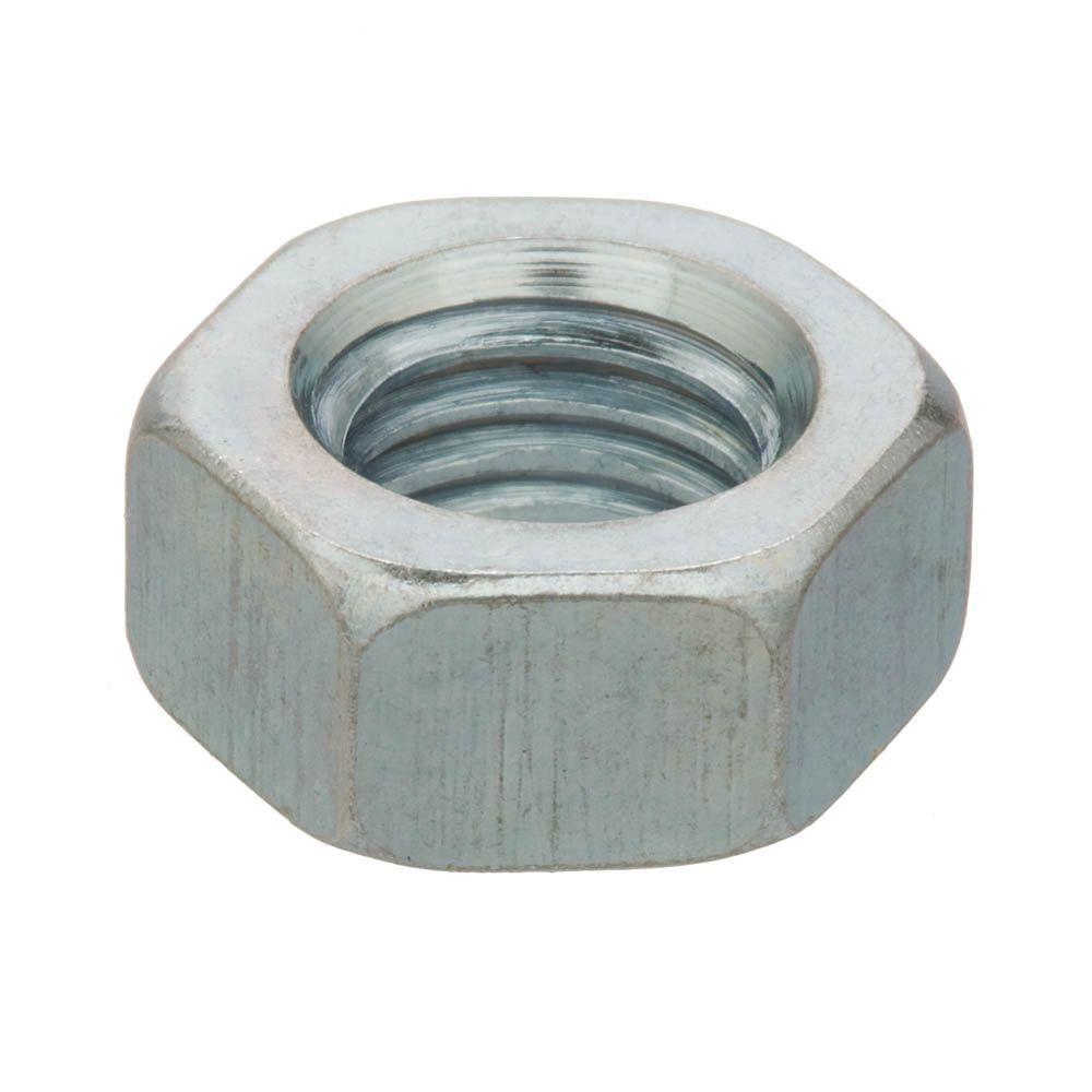Everbilt M12-1.75 Zinc-Plated Hex Nut, Metallics
