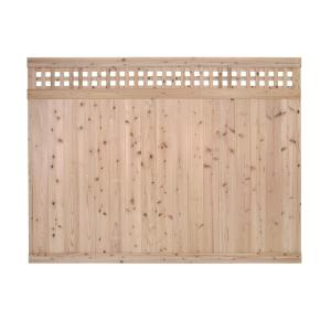 6 Ft X 8 Ft Cedar Square Lattice Top Fence Panel 310067