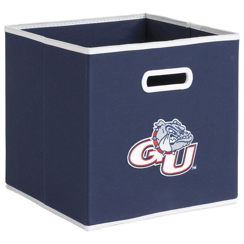 null College STOREITS Gonzaga University 10-1/2 in. W x 10-1/2 in. H x 11 in. D Navy Fabric Storage Drawer
