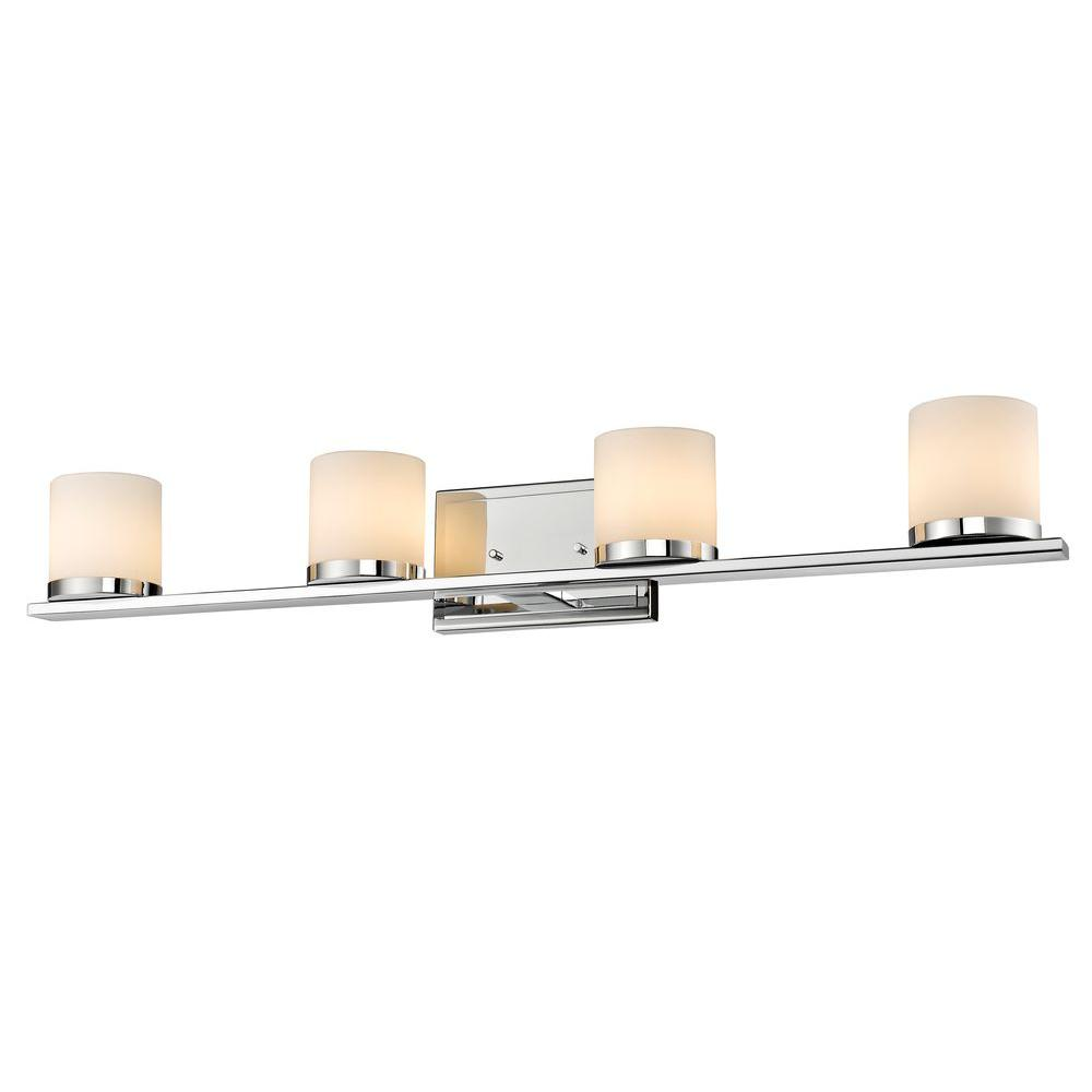 Kariya 4-Light Chrome Bath Vanity Light