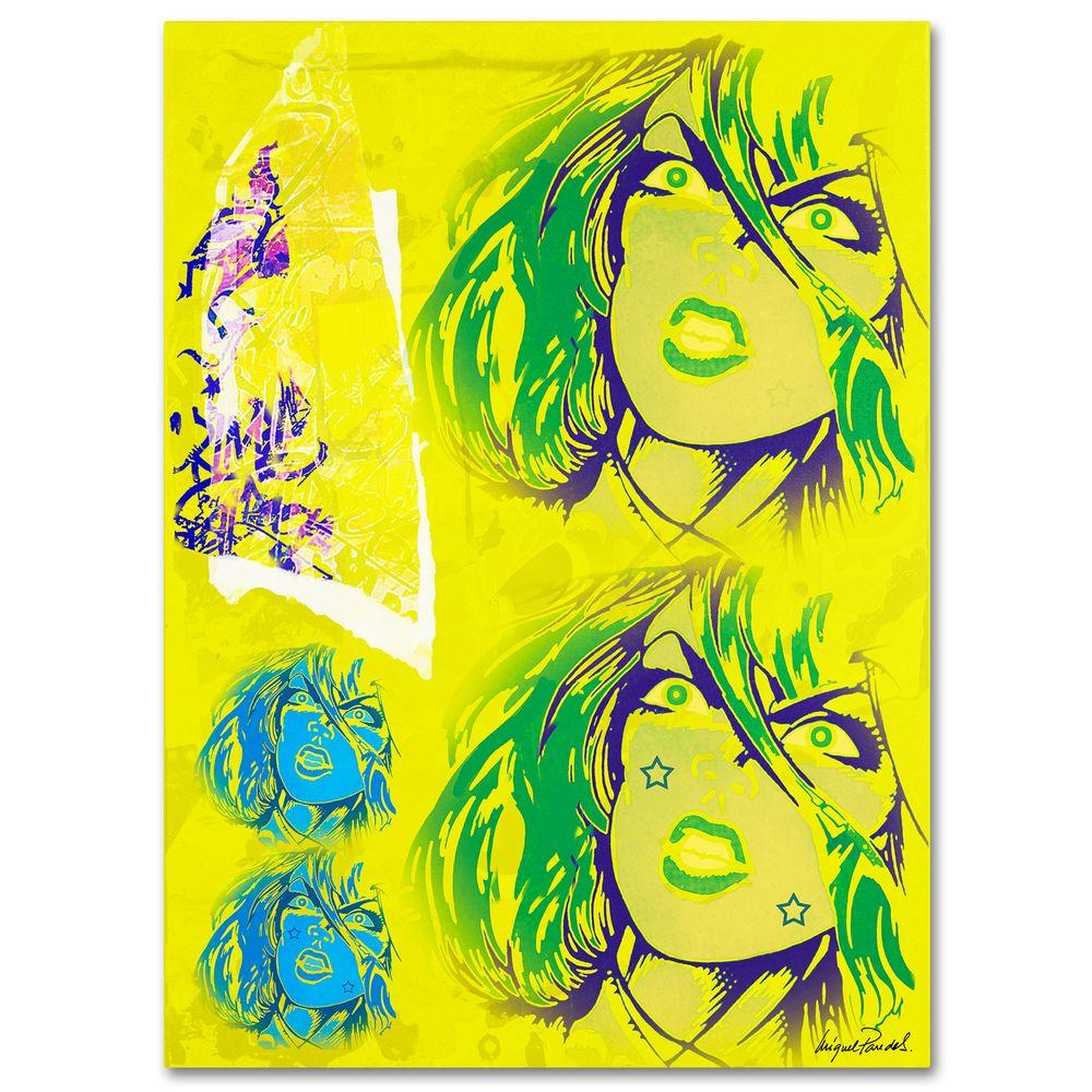 26 in. x 32 in. Crime in Yellow Canvas Art