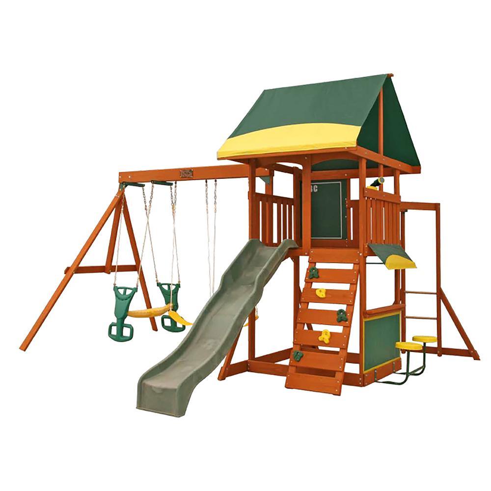 Kidkraft Brookridge Wooden Playset F23235 The Home Depot