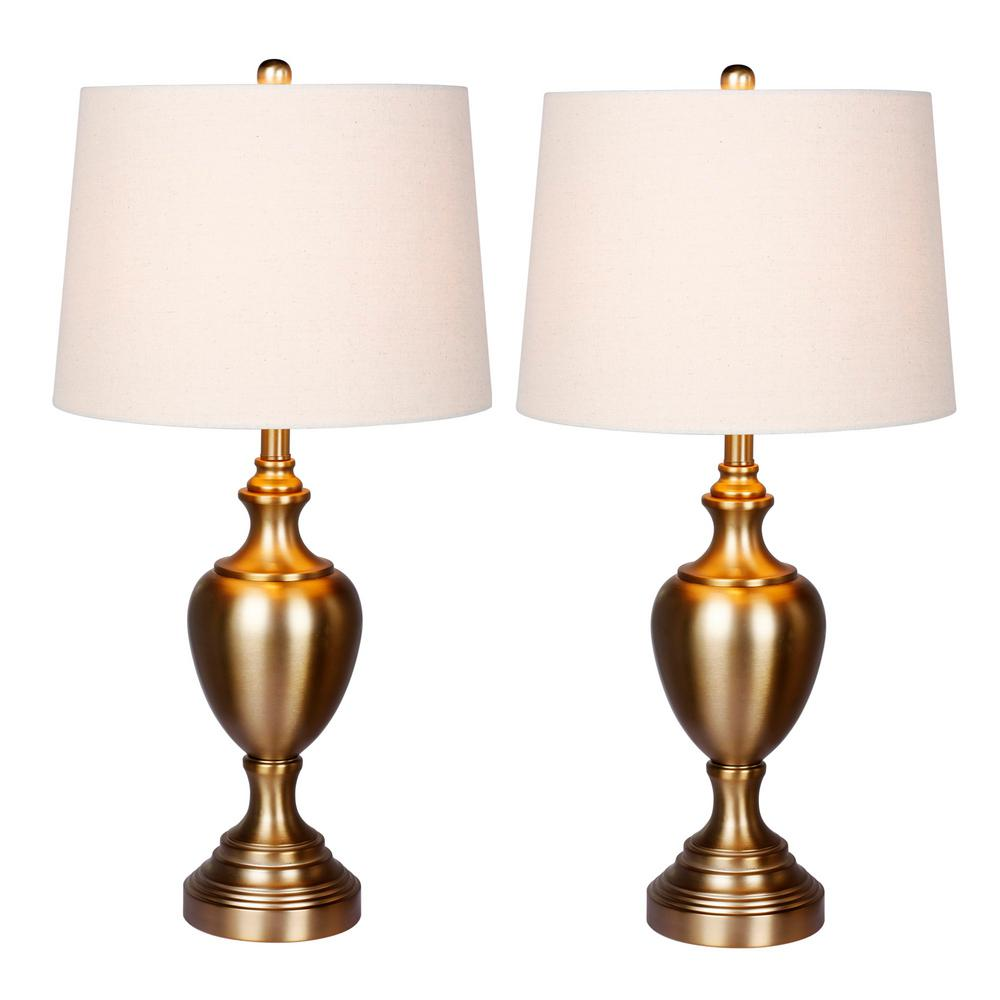 Chateau Pedestal Lantern Light Antique Brass: Fangio Lighting 30 In. Plated Antique Gold Urn With