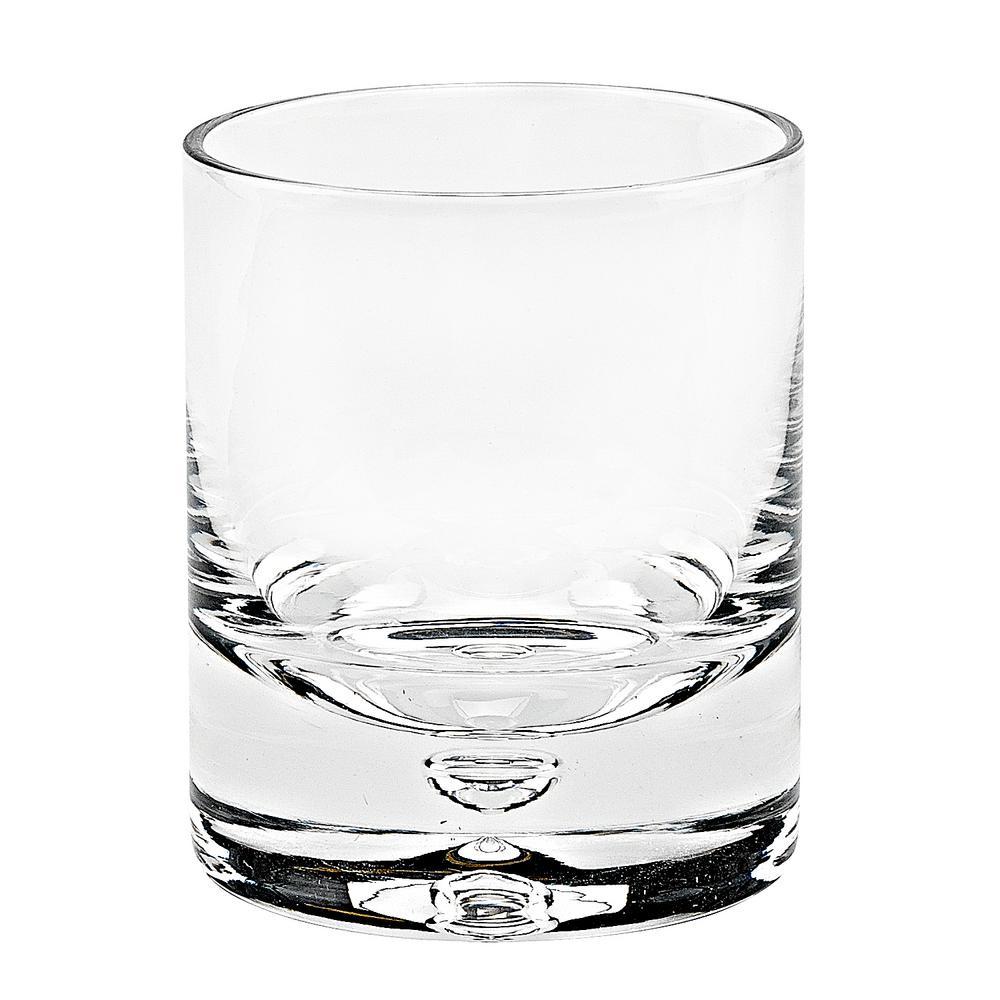 12 oz. Galaxy Gold Old Fashioned Rocks Lead Free Crystal Scotch Glass (4-Piece Set)