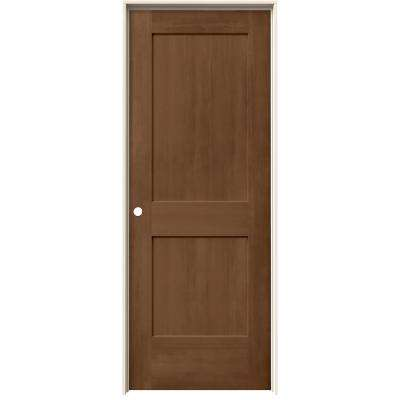 32 in. x 80 in. Monroe Hazelnut Stain Right-Hand Solid Core Molded Composite MDF Single Prehung Interior Door