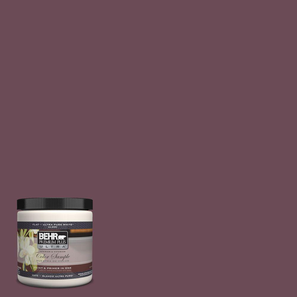 BEHR Premium Plus Ultra 8 oz. #UL100-22 Spiced Plum Interior/Exterior Paint Sample
