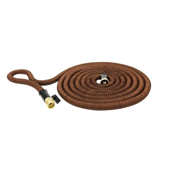 Copper 5/8 in. Dia x 100 ft. High Performance Lightweight Expandable Garden Hose with Brass Fitting