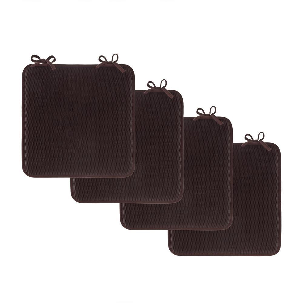 Brown Foam Chair Pad (Set of 4)