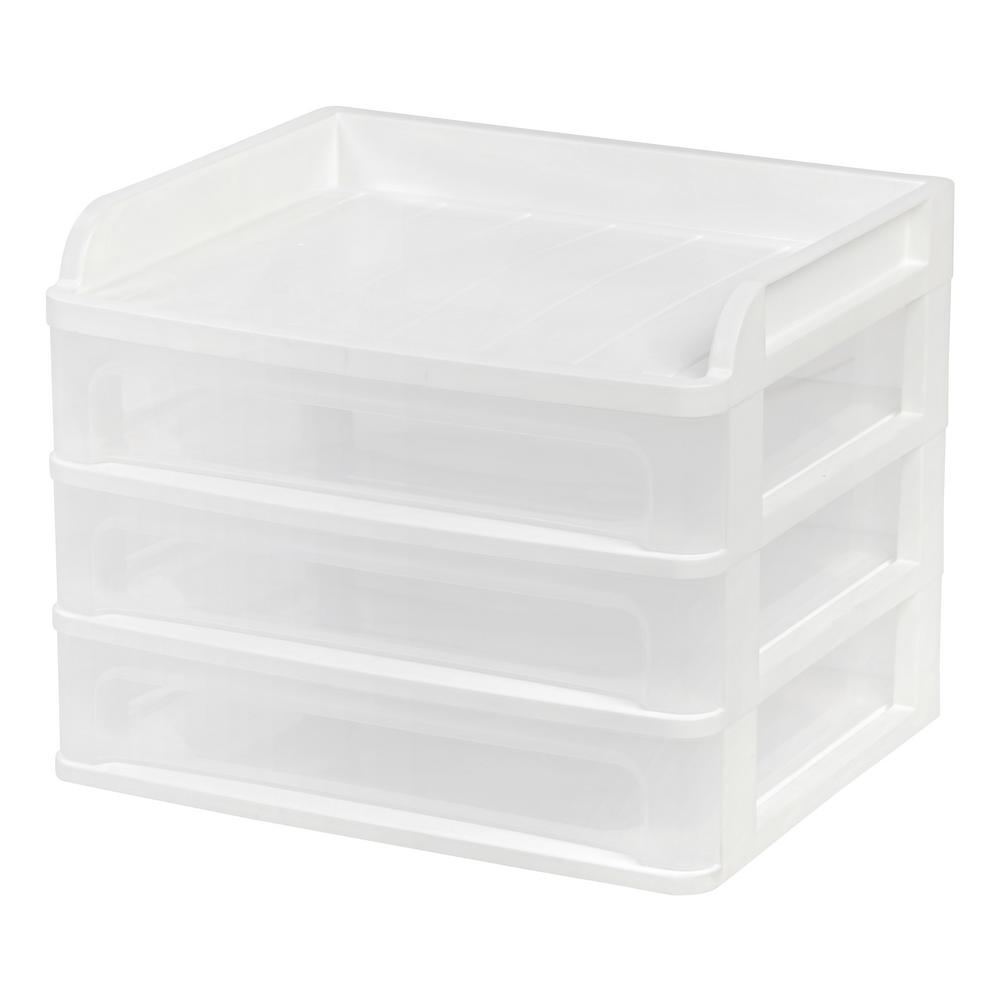 14.25 in. x 11.25 in. White Medium Desktop Drawer System