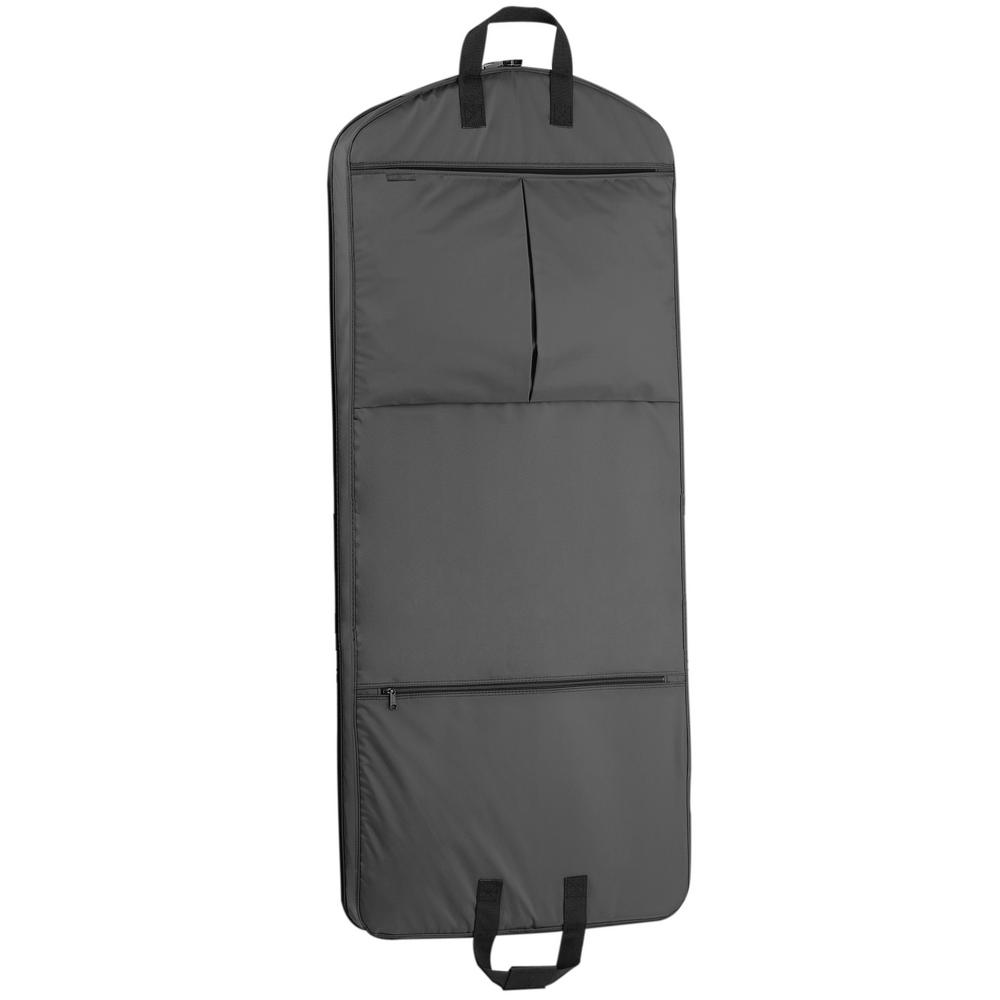 52 in. Black Dress Length Carry-On Garment Bag with 2-Pockets