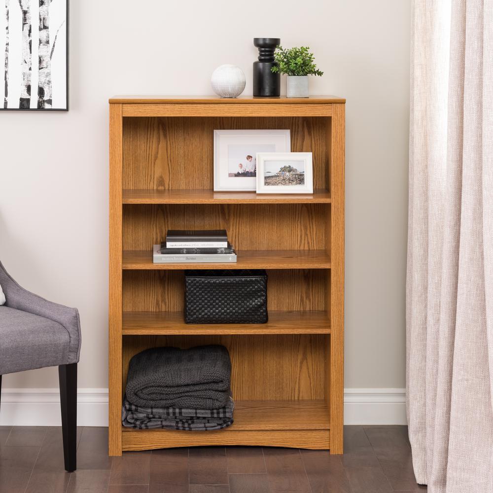 Prepac Oak Open Bookcase-ODL-3248 - The Home Depot