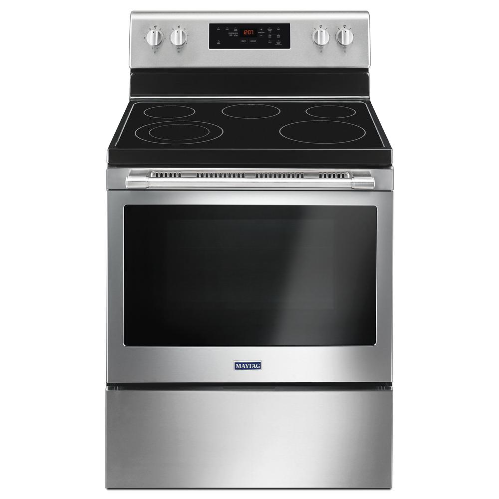 30 in. 5.3 cu. ft. Electric Range with Shatter-Resistant Cooktop in