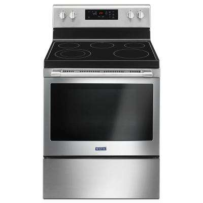 30 in. 5.3 cu. ft. Electric Range with Shatter-Resistant Cooktop in Fingerprint Resistant Stainless Steel