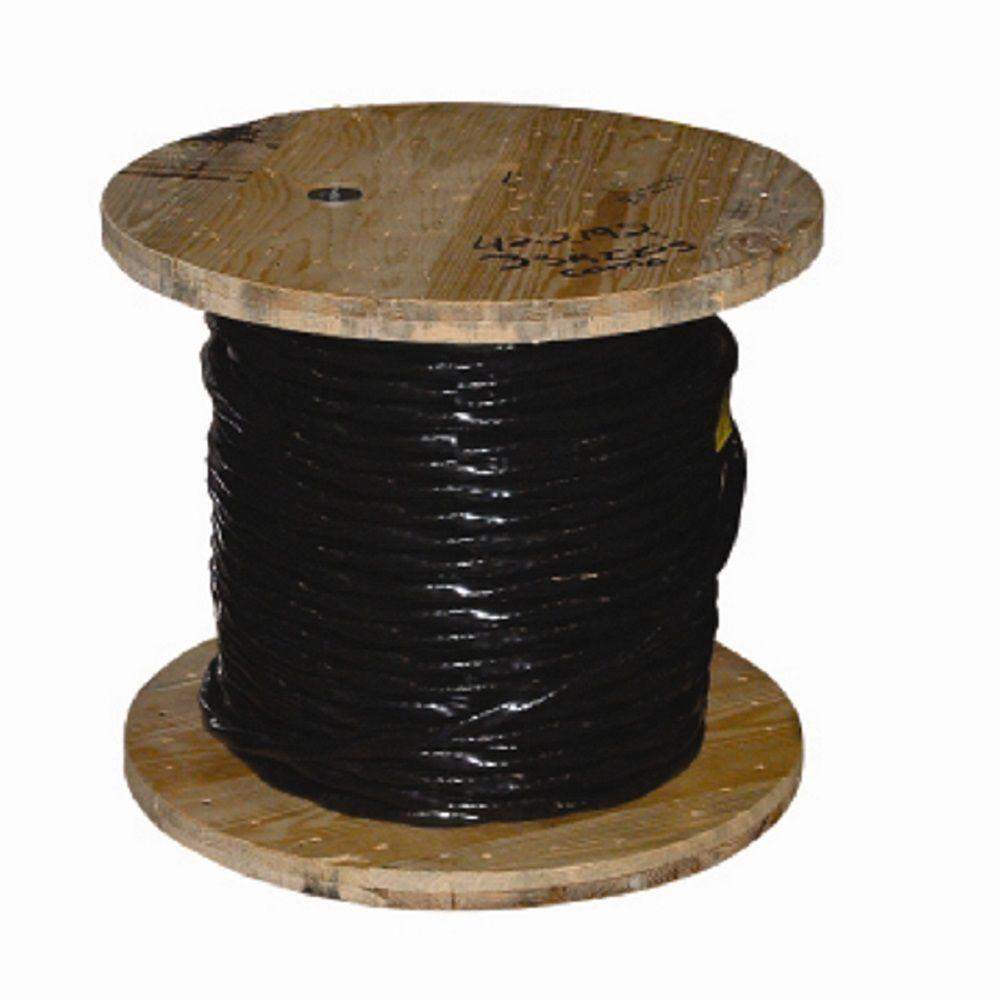 1000 ft. 4-1 Black Stranded AL USE-2 Cable