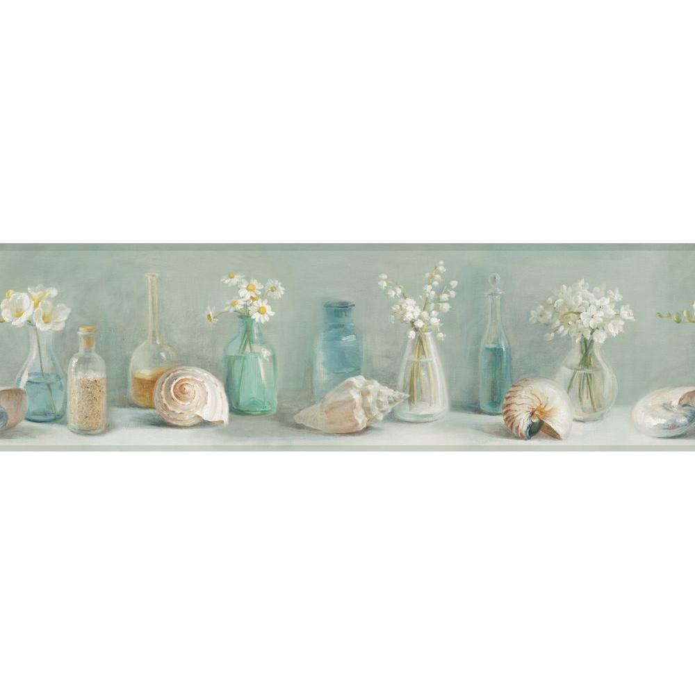 Chesapeake Cahoon Sea Glass Wallpaper Border Dlr53603b