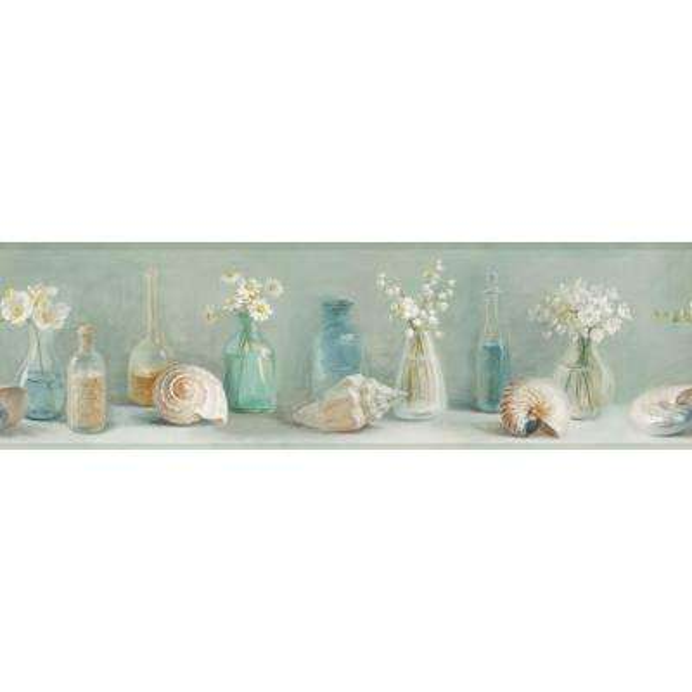 Cahoon Sea Glass Wallpaper Border