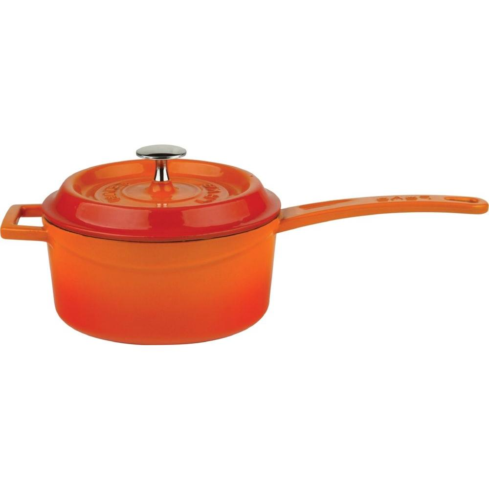 Signature 1.1 Qt. Porcelain-Enameled Cast Iron Sauce Pot