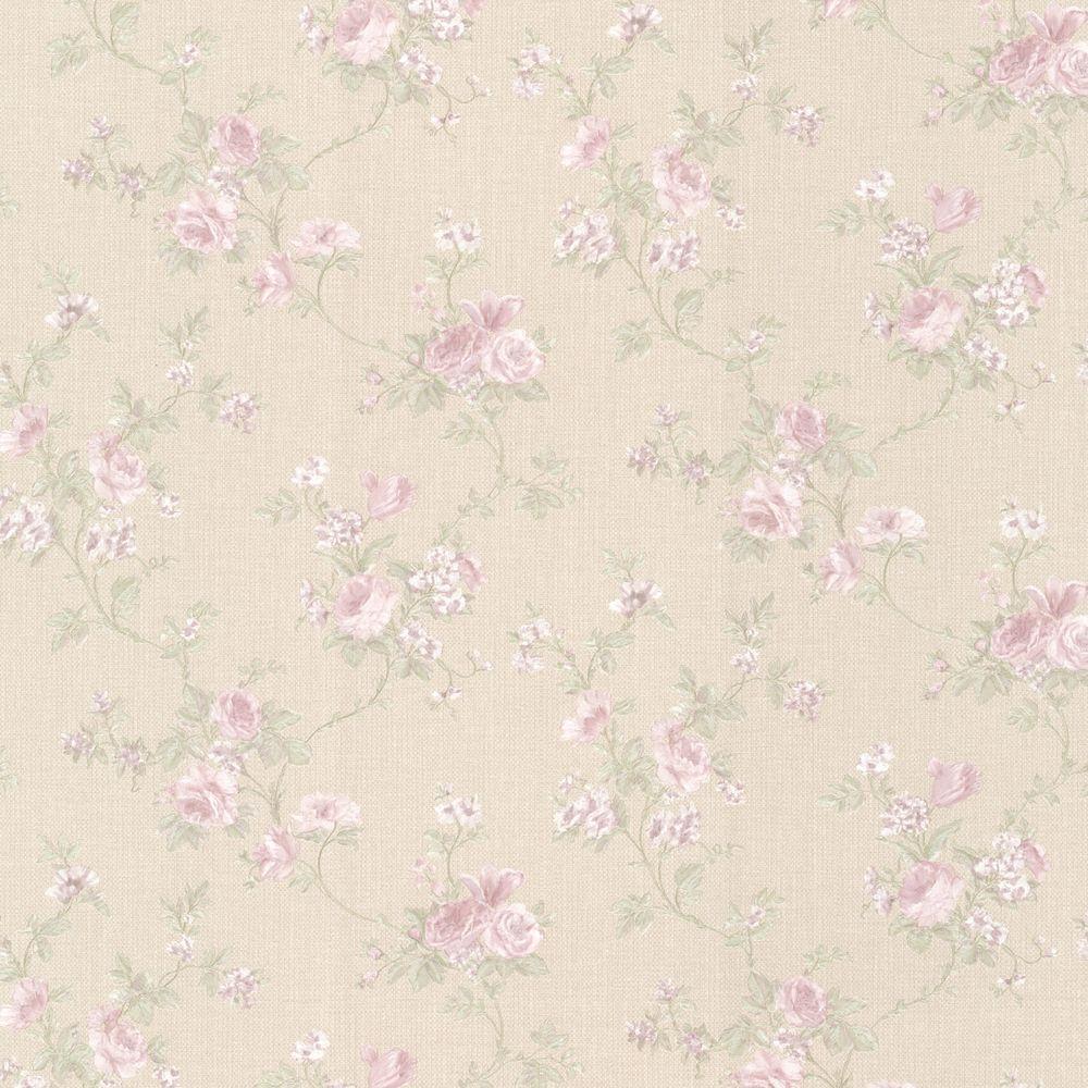 Princess Lavender Floral Trail Wallpaper
