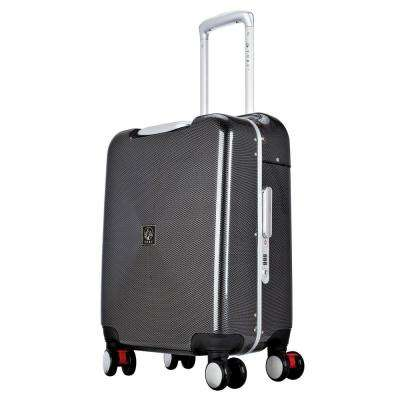SEAT-ON 20 in. Charcoal Hardside Aluminum Frame Carry-on with Spinner Wheels