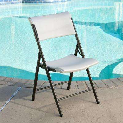 Contemporary Commercial Almond Folding Utility Chair (Set of 4)