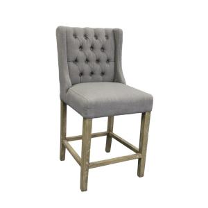 Enjoyable Gray 41 In Linen Counter Stool Gmtry Best Dining Table And Chair Ideas Images Gmtryco