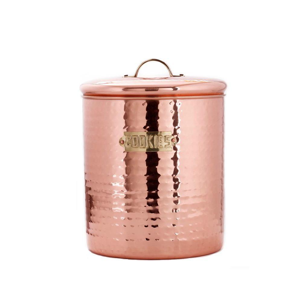 Decor Copper Hammered Cookie Jar